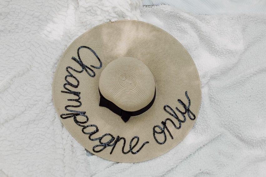 champagne chapeau boheme