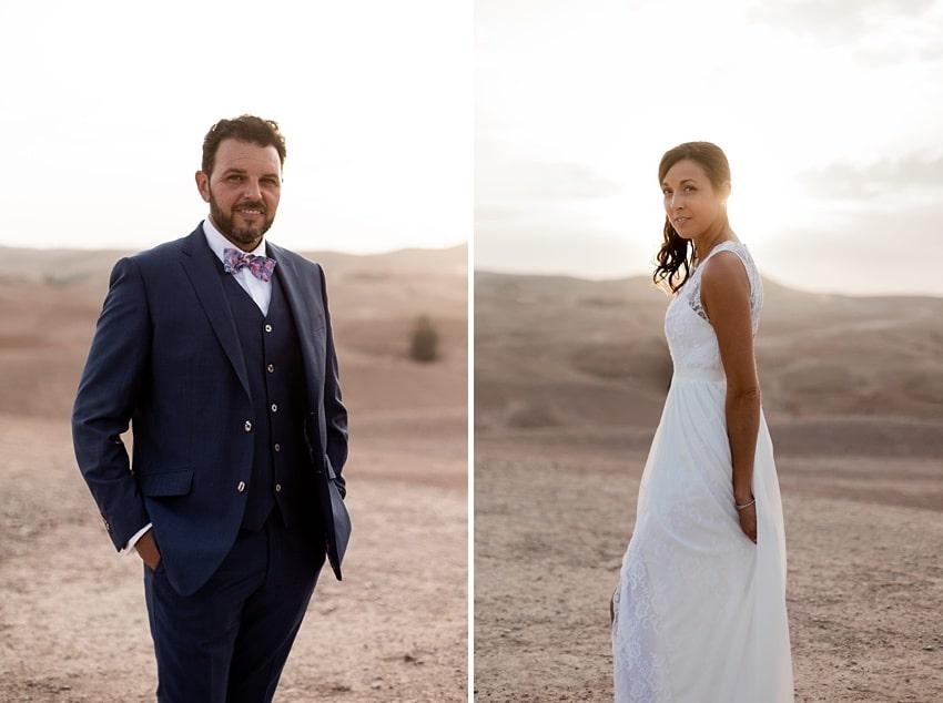 mariage la pause désert