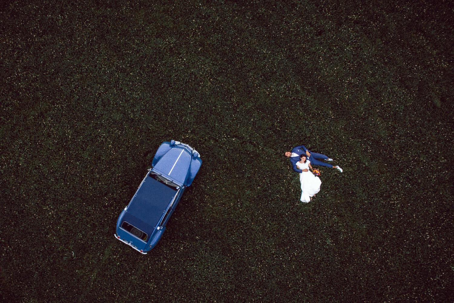 photo drone mariage champ