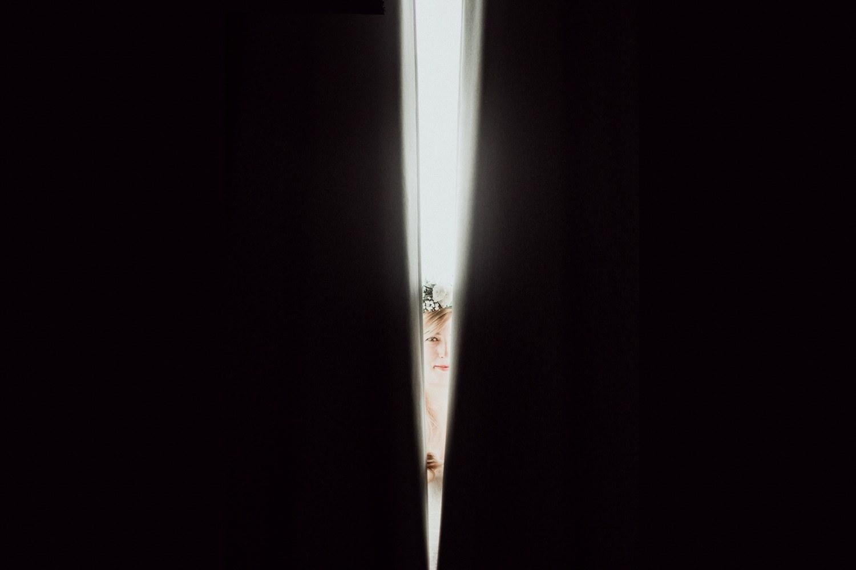 portrait mariee creatif rideaux