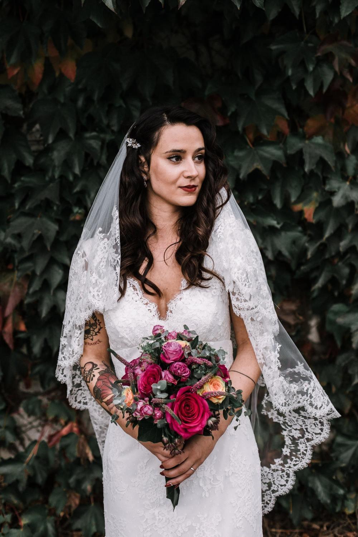 portrait femme robe de mariée
