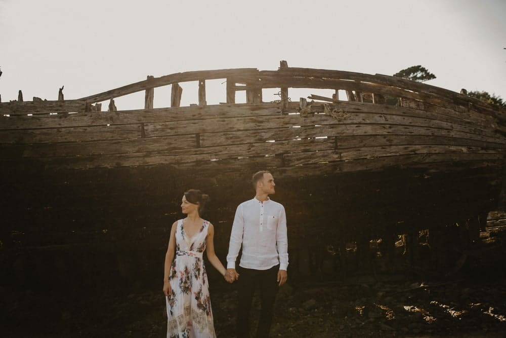 couple creatif bateau bois