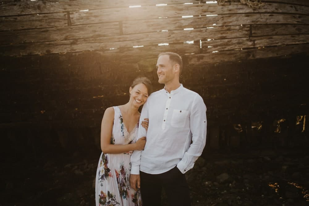 portrait soleil mariage